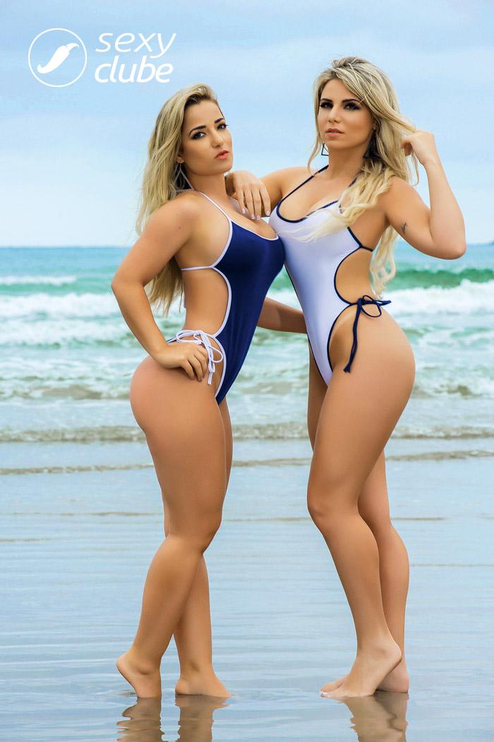 Caroline Aguiar e Micheline Cruz - Revista Sexy - Maio de 2017