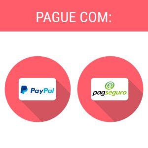 Pague com Pay Pal e Pag seguro