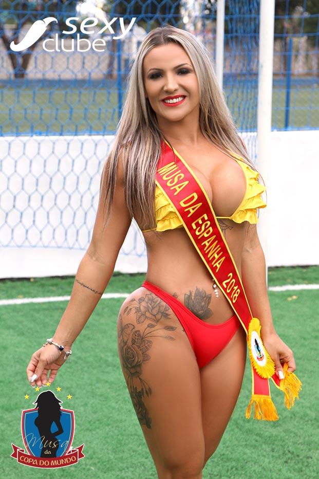Musa da Espanha 2018 – Aline Lisboa - Musa da Copa do Mundo - sexy Clube